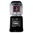 Florida St. Seminoles Black Gumball/Candy Machine - Craving something sweet? Then just reach for your very own Florida St. Seminoles gumball machine! This fun gumball machine accepts nickels, dimes or quarters and can be set for free dispensing. The glass globe is 4 inches wide and tall and can be used for any gumballs or candy that is less than 1/2 inch. The cast metal base is sturdy and features a chrome metal coin receptacle and turn handle. The classic novelty item is perfect for your desk at work, dorm room or game room.