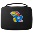 Kansas Jayhawks GoPro Carrying Case - Our Kansas Jayhawks GoPro carrying case for GoPro cameras is the perfect balance of style and functionality. This protective Kansas Jayhawks GoPro Carrying case is water resistant, with a water resistant zipper system making it a great way to protect your Go Pro on the go! The case has a durable insert that fits the GoPro 1,2,3,3+ and 4 plus housing, housing backdoors, SD memory card, battery, power plug, remote control, battery pack and LCD. The case has an additional mesh storage pocket for cables and additional accessories. The classic black case features a large printed team logo. Thank you for shopping with CrazedOutSports.com