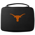 Texas Longhorns GoPro Carrying Case - Our Texas Longhorns carrying case for GoPro cameras is the perfect balance of style and functionality. This protective case is water resistant, with a water resistant zipper system making it a great way to protect your Go Pro on the go! The case has a durable insert that fits the GoPro 1,2,3,3+ and 4 plus housing, housing backdoors, SD memory card, battery, power plug, remote control, battery pack and LCD. The case has an additional mesh storage pocket for cables and additional accessories. The classic black case features a large printed team logo. Thank you for shopping with CrazedOutSports.com