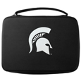 Michigan St. Spartans GoPro Carrying Case - This Michigan St. Spartans carrying case for GoPro cameras is the perfect balance of style and functionality. This protective Michigan St. Spartans GoPro Carrying Case is water resistant, with a water resistant zipper system making it a great way to protect your Go Pro on the go! The Michigan St. Spartans GoPro Carrying Case has a durable insert that fits the GoPro 1,2,3,3+ and 4 plus housing, housing backdoors, SD memory card, battery, power plug, remote control, battery pack and LCD. The Michigan St. Spartans GoPro Carrying Case has an additional mesh storage pocket for cables and additional accessories. The classic black Michigan St. Spartans GoPro Carrying Case features a large printed team logo. Thank you for shopping with CrazedOutSports.com