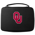 Oklahoma Sooners GoPro Carrying Case - Our Oklahoma Sooners carrying case for GoPro cameras is the perfect balance of style and functionality. This protective case is water resistant, with a water resistant zipper system making it a great way to protect your Go Pro on the go! The case has a durable insert that fits the GoPro 1,2,3,3+ and 4 plus housing, housing backdoors, SD memory card, battery, power plug, remote control, battery pack and LCD. The case has an additional mesh storage pocket for cables and additional accessories. The classic black case features a large printed team logo. Thank you for shopping with CrazedOutSports.com