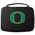 Oregon Ducks GoPro Carrying Case - Our Oregon Ducks carrying case for GoPro cameras is the perfect balance of style and functionality. This protective case is water resistant, with a water resistant zipper system making it a great way to protect your Go Pro on the go! The case has a durable insert that fits the GoPro 1,2,3,3+ and 4 plus housing, housing backdoors, SD memory card, battery, power plug, remote control, battery pack and LCD. The case has an additional mesh storage pocket for cables and additional accessories. The classic black case features a large printed team logo. Thank you for shopping with CrazedOutSports.com