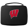 Wisconsin Badgers GoPro Carrying Case - Our Wisconsin Badgers carrying case for GoPro cameras is the perfect balance of style and functionality. This protective case is water resistant, with a water resistant zipper system making it a great way to protect your Go Pro on the go! The case has a durable insert that fits the GoPro 1,2,3,3+ and 4 plus housing, housing backdoors, SD memory card, battery, power plug, remote control, battery pack and LCD. The case has an additional mesh storage pocket for cables and additional accessories. The classic black case features a large printed team logo. Thank you for shopping with CrazedOutSports.com