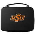 Oklahoma St. Cowboys GoPro Carrying Case - Our Oklahoma St. Cowboys carrying case for GoPro cameras is the perfect balance of style and functionality. This protective case is water resistant, with a water resistant zipper system making it a great way to protect your Go Pro on the go! The case has a durable insert that fits the GoPro 1,2,3,3+ and 4 plus housing, housing backdoors, SD memory card, battery, power plug, remote control, battery pack and LCD. The case has an additional mesh storage pocket for cables and additional accessories. The classic black case features a large printed team logo. Thank you for shopping with CrazedOutSports.com