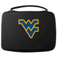 W. Virginia Mountaineers GoPro Carrying Case - Our W. Virginia Mountaineers carrying case for GoPro cameras is the perfect balance of style and functionality. This protective case is water resistant, with a water resistant zipper system making it a great way to protect your Go Pro on the go! The case has a durable insert that fits the GoPro 1,2,3,3+ and 4 plus housing, housing backdoors, SD memory card, battery, power plug, remote control, battery pack and LCD. The case has an additional mesh storage pocket for cables and additional accessories. The classic black case features a large printed team logo. Thank you for shopping with CrazedOutSports.com