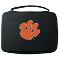 Clemson Tigers GoPro Carrying Case - Our Clemson Tigers carrying case for GoPro cameras is the perfect balance of style and functionality. This protective case is water resistant, with a water resistant zipper system making it a great way to protect your Go Pro on the go! The case has a durable insert that fits the GoPro 1,2,3,3+ and 4 plus housing, housing backdoors, SD memory card, battery, power plug, remote control, battery pack and LCD. The case has an additional mesh storage pocket for cables and additional accessories. The classic black case features a large printed team logo. Thank you for shopping with CrazedOutSports.com