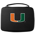 Miami Hurricanes GoPro Carrying Case - This Miami Hurricanes GoPro carrying case for GoPro cameras is the perfect balance of style and functionality. This Miami Hurricanes GoPro Carrying protective case is water resistant, with a water resistant zipper system making it a great way to protect your Go Pro on the go! The case has a durable insert that fits the GoPro 1,2,3,3+ and 4 plus housing, housing backdoors, SD memory card, battery, power plug, remote control, battery pack and LCD. The case has an additional mesh storage pocket for cables and additional accessories. The classic black case features a large printed team logo. Thank you for shopping with CrazedOutSports.com