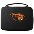 Oregon St. Beavers GoPro Carrying Case - Our Oregon St. Beavers carrying case for GoPro cameras is the perfect balance of style and functionality. This protective case is water resistant, with a water resistant zipper system making it a great way to protect your Go Pro on the go! The case has a durable insert that fits the GoPro 1,2,3,3+ and 4 plus housing, housing backdoors, SD memory card, battery, power plug, remote control, battery pack and LCD. The case has an additional mesh storage pocket for cables and additional accessories. The classic black case features a large printed team logo. Thank you for shopping with CrazedOutSports.com