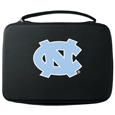 N. Carolina Tar Heels GoPro Carrying Case - Our N. Carolina Tar Heels carrying case for GoPro cameras is the perfect balance of style and functionality. This protective case is water resistant, with a water resistant zipper system making it a great way to protect your Go Pro on the go! The case has a durable insert that fits the GoPro 1,2,3,3+ and 4 plus housing, housing backdoors, SD memory card, battery, power plug, remote control, battery pack and LCD. The case has an additional mesh storage pocket for cables and additional accessories. The classic black case features a large printed team logo. Thank you for shopping with CrazedOutSports.com
