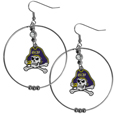 East Carolina Pirates 2 Inch Hoop Earrings