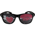Arkansas Razorbacks I Heart Game Day Shades - These officially licensed Arkansas Razorbacks I Heart game day shades are the perfect accessory for the devoted Arkansas Razorbacks fan! The sunglasses have durable polycarbonate frames with flex hinges for comfort and damage resistance. The lenses feature brightly colored team clings that are perforated for visibility. Thank you for shopping with CrazedOutSports.com