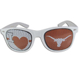 Texas Longhorns I Heart Game Day Shades - Our officially licensed I Heart game day shades are the perfect accessory for the devoted Texas Longhorns fan! The sunglasses have durable polycarbonate frames with flex hinges for comfort and damage resistance. The lenses feature brightly colored team clings that are perforated for visibility. Thank you for shopping with CrazedOutSports.com