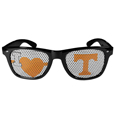 Tennessee Volunteers I Heart Game Day Shades - Our officially licensed I Heart game day shades are the perfect accessory for the devoted Tennessee Volunteers fan! The sunglasses have durable polycarbonate frames with flex hinges for comfort and damage resistance. The lenses feature brightly colored team clings that are perforated for visibility. Thank you for shopping with CrazedOutSports.com