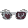 Texas A and M Aggies I Heart Game Day Shades - Our officially licensed I Heart game day shades are the perfect accessory for the devoted Texas A & M Aggies fan! The sunglasses have durable polycarbonate frames with flex hinges for comfort and damage resistance. The lenses feature brightly colored team clings that are perforated for visibility. Thank you for shopping with CrazedOutSports.com