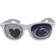 Penn St. Nittany Lions I Heart Game Day Shades - Our officially licensed I Heart game day shades are the perfect accessory for the devoted Penn St. Nittany Lions fan! The sunglasses have durable polycarbonate frames with flex hinges for comfort and damage resistance. The lenses feature brightly colored team clings that are perforated for visibility. Thank you for shopping with CrazedOutSports.com