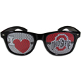 Ohio St. Buckeyes I Heart Game Day Shades - Our officially licensed I Heart game day shades are the perfect accessory for the devoted Ohio St. Buckeyes fan! The sunglasses have durable polycarbonate frames with flex hinges for comfort and damage resistance. The lenses feature brightly colored team clings that are perforated for visibility. Thank you for shopping with CrazedOutSports.com