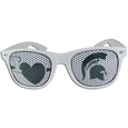 Michigan St. Spartans I Heart Game Day Shades - These officially licensed Michigan St. Spartans I Heart Game Day Shades are the perfect accessory for the devoted Michigan St. Spartans fan! The Michigan St. Spartans I Heart Game Day Shade sunglasses have durable polycarbonate frames with flex hinges for comfort and damage resistance. The Michigan St. Spartans I Heart Game Day Shades lenses feature brightly colored team clings that are perforated for visibility. Thank you for shopping with CrazedOutSports.com