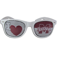 Mississippi St. Bulldogs I Heart Game Day Shades - Our officially licensed I Heart game day shades are the perfect accessory for the devoted Mississippi St. Bulldogs fan! The sunglasses have durable polycarbonate frames with flex hinges for comfort and damage resistance. The lenses feature brightly colored team clings that are perforated for visibility. Thank you for shopping with CrazedOutSports.com