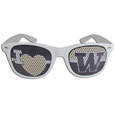 Washington Huskies I Heart Game Day Shades - Our officially licensed I Heart game day shades are the perfect accessory for the devoted Washington Huskies fan! The sunglasses have durable polycarbonate frames with flex hinges for comfort and damage resistance. The lenses feature brightly colored team clings that are perforated for visibility. Thank you for shopping with CrazedOutSports.com
