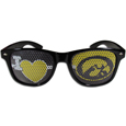 Iowa Hawkeyes I Heart Game Day Shades - Our officially licensed Iowa Hawkeyes I Heart game day shades are the perfect accessory for the devoted Iowa Hawkeyes fan! The sunglasses have durable polycarbonate frames with flex hinges for comfort and damage resistance. The lenses feature brightly colored team clings that are perforated for visibility. Thank you for shopping with CrazedOutSports.com