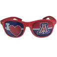 Arizona Wildcats I Heart Game Day Shades - Our officially licensed I Heart game day shades are the perfect accessory for the devoted Arizona Wildcats fan! The sunglasses have durable polycarbonate frames with flex hinges for comfort and damage resistance. The lenses feature brightly colored team clings that are perforated for visibility. Thank you for shopping with CrazedOutSports.com