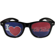 Mississippi Rebels I Heart Game Day Shades - Our officially licensed I Heart game day shades are the perfect accessory for the devoted Mississippi Rebels fan! The sunglasses have durable polycarbonate frames with flex hinges for comfort and damage resistance. The lenses feature brightly colored team clings that are perforated for visibility. Thank you for shopping with CrazedOutSports.com