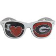 Georgia Bulldogs I Heart Game Day Shades - Our officially licensed Georgia Bulldogs I Heart game day shades are the perfect accessory for the devoted Georgia Bulldogs fan! The sunglasses have durable polycarbonate frames with flex hinges for comfort and damage resistance. The lenses feature brightly colored team clings that are perforated for visibility. Thank you for shopping with CrazedOutSports.com