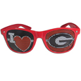 Georgia Bulldogs I Heart Game Day Shades - These officially licensed I Heart Georgia Bulldogs game day shades are the perfect accessory for the devoted Georgia Bulldogs fan! The sunglasses have durable polycarbonate frames with flex hinges for comfort and damage resistance. The lenses feature brightly colored team clings that are perforated for visibility. Thank you for shopping with CrazedOutSports.com