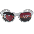 Virginia Tech Hokies I Heart Game Day Shades - Our officially licensed I Heart game day shades are the perfect accessory for the devoted Virginia Tech Hokies fan! The sunglasses have durable polycarbonate frames with flex hinges for comfort and damage resistance. The lenses feature brightly colored team clings that are perforated for visibility. Thank you for shopping with CrazedOutSports.com