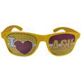 Arizona St. Sun Devils I Heart Game Day Shades - Our officially licensed I Heart game day shades are the perfect accessory for the devoted Arizona St. Sun Devils fan! The sunglasses have durable polycarbonate frames with flex hinges for comfort and damage resistance. The lenses feature brightly colored team clings that are perforated for visibility. Thank you for shopping with CrazedOutSports.com