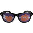 Clemson Tigers I Heart Game Day Shades - Our officially licensed I Heart game day shades are the perfect accessory for the devoted Clemson Tigers fan! The sunglasses have durable polycarbonate frames with flex hinges for comfort and damage resistance. The lenses feature brightly colored team clings that are perforated for visibility. Thank you for shopping with CrazedOutSports.com
