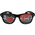 Miami Hurricanes I Heart Game Day Shades - Our officially licensed Miami Hurricanes I Heart game day shades are the perfect accessory for the devoted Miami Hurricanes fan! The Miami Hurricanes I Heart Game Day sunglasses have durable polycarbonate frames with flex hinges for comfort and damage resistance. The lenses feature brightly colored team clings that are perforated for visibility. Thank you for shopping with CrazedOutSports.com