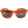 Miami Hurricanes I Heart Game Day Shades - Our officially licensed I Heart game day shades are the perfect accessory for the devoted Miami Hurricanes fan! The sunglasses have durable polycarbonate frames with flex hinges for comfort and damage resistance. The lenses feature brightly colored team clings that are perforated for visibility. Thank you for shopping with CrazedOutSports.com