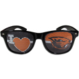 Oregon St. Beavers I Heart Game Day Shades - Our officially licensed I Heart game day shades are the perfect accessory for the devoted Oregon St. Beavers fan! The sunglasses have durable polycarbonate frames with flex hinges for comfort and damage resistance. The lenses feature brightly colored team clings that are perforated for visibility. Thank you for shopping with CrazedOutSports.com
