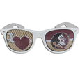 Florida St. Seminoles I Heart Game Day Shades - Our officially licensed I Heart game day shades are the perfect accessory for the devoted Florida St. Seminoles fan! The sunglasses have durable polycarbonate frames with flex hinges for comfort and damage resistance. The lenses feature brightly colored team clings that are perforated for visibility. Thank you for shopping with CrazedOutSports.com