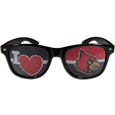 Louisville Cardinals I Heart Game Day Shades - These officially licensed Louisville Cardinals I Heart game day shades are the perfect accessory for the devoted Louisville Cardinals fan! The Louisville Cardinals I heart game day sunglasses have durable polycarbonate frames with flex hinges for comfort and damage resistance. The lenses feature brightly colored team clings that are perforated for visibility. Thank you for shopping with CrazedOutSports.com