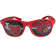 Louisville Cardinals I Heart Game Day Shades - These officially licensed Louisville Cardinals I Heart game day shades are the perfect accessory for the devoted Louisville Cardinals fan! The Louisville Cardinals sunglasses have durable polycarbonate frames with flex hinges for comfort and damage resistance. The lenses feature brightly colored team clings that are perforated for visibility. Thank you for shopping with CrazedOutSports.com