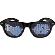 N. Carolina Tar Heels I Heart Game Day Shades - Our officially licensed I Heart game day shades are the perfect accessory for the devoted N. Carolina Tar Heels fan! The sunglasses have durable polycarbonate frames with flex hinges for comfort and damage resistance. The lenses feature brightly colored team clings that are perforated for visibility. Thank you for shopping with CrazedOutSports.com