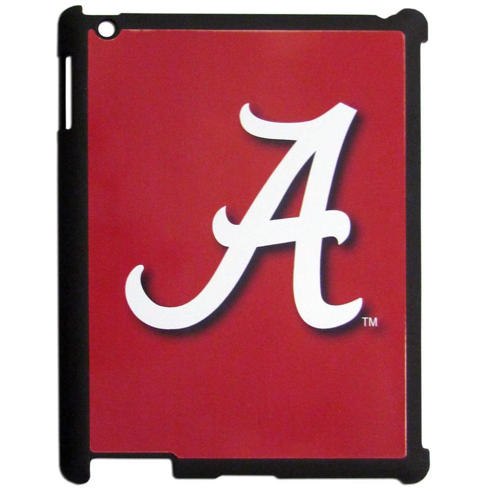 Alabama Crimson Tide iPad 2 Snap on Case - Our officially licensed college iPad 2 snap on case weighs only 7 ounces and has an inset metal team graphics plate. The case snaps easily onto your device providing protection while showing off your Alabama Crimson Tide pride!