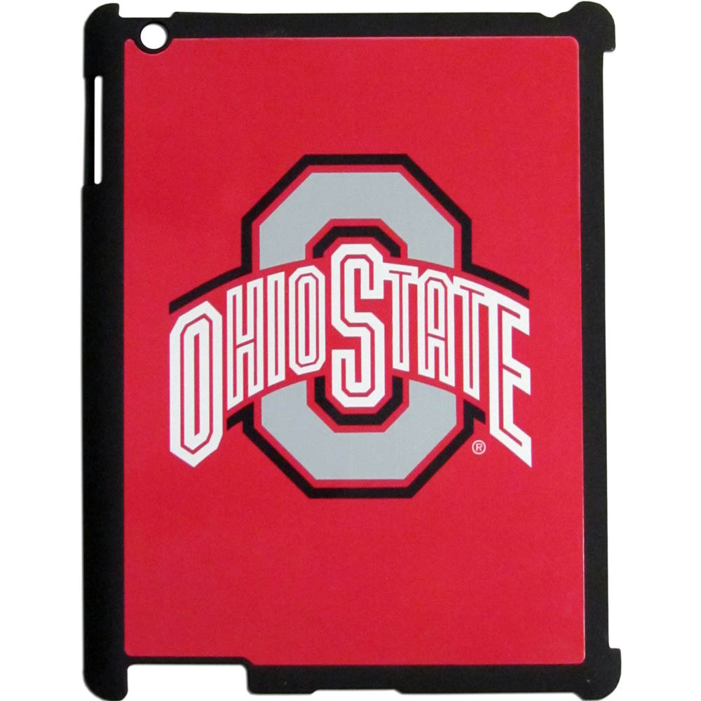 Ohio St. Buckeyes iPad 2 Snap on Case - Our officially licensed college iPad 2 snap on case weighs only 7 ounces and has an inset metal team graphics plate. The case snaps easily onto your device providing protection while showing off your Ohio St. Buckeyes pride!