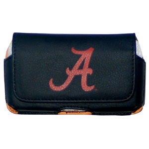 Alabama Crimson Tide Horizontal Cell Pouch - Keep you personal electronics safe with this Alabama Crimson Tide horizontal protective case with belt clip and easy flip front. Fits a variety of personal electronics like blackberries, Nano classics, and iTouch. Thank you for shopping with CrazedOutSports.com