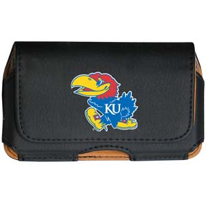 Kansas Jayhawks Cell Pouch - Keep you personal electronics safe with this Kansas Jayhawks horizontal protective cell phone case with belt clip and easy flip front. Fits a variety of personal electronics like blackberries, Nano classics, and iTouch. Thank you for shopping with CrazedOutSports.com
