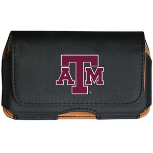 Texas A&M Cell Pouch - Keep you personal electronics safe with this horizontal protective case with belt clip and easy flip front. Fits a variety of personal electronics like blackberries, Nano classics, and iTouch. Thank you for shopping with CrazedOutSports.com