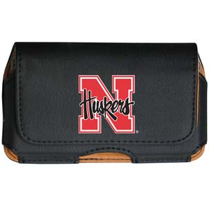 Nebraska Cell Pouch - Keep you personal electronics safe with this horizontal protective case with belt clip and easy flip front. Fits a variety of personal electronics like blackberries, Nano classics, and iTouch. Thank you for shopping with CrazedOutSports.com