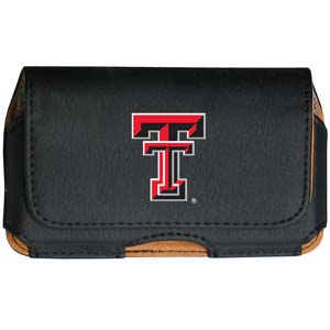 Texas Tech Cell Pouch - Keep you personal electronics safe with this horizontal protective case with belt clip and easy flip front. Fits a variety of personal electronics like blackberries, Nano classics, and iTouch. Thank you for shopping with CrazedOutSports.com