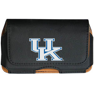 Kentucky Wildcats Cell Pouch - Keep you personal electronics safe with this horizontal protective case with belt clip and easy flip front. Fits a variety of personal electronics like blackberries, Nano classics, and iTouch. Thank you for shopping with CrazedOutSports.com