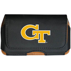 Georgia Tech Cell Pouch - Keep you personal electronics safe with this horizontal protective case with belt clip and easy flip front. Fits a variety of personal electronics like blackberries, Nano classics, and iTouch. Thank you for shopping with CrazedOutSports.com