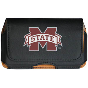Mississippi St. Cell Pouch - Keep you personal electronics safe with this horizontal protective case with belt clip and easy flip front. Fits a variety of personal electronics like blackberries, Nano classics, and iTouch. Thank you for shopping with CrazedOutSports.com