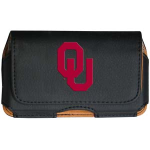 Oklahoma Cell Pouch - Keep you personal electronics safe with this horizontal protective case with belt clip and easy flip front. Fits a variety of personal electronics like blackberries, Nano classics, and iTouch. Thank you for shopping with CrazedOutSports.com
