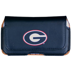 Georgia Bulldogs Cell Phone Pouch - Keep you personal electronics safe with this Georgia Bulldogs horizontal protective case with belt clip and easy flip front. Fits a variety of personal electronics like blackberries, Nano classics, and iTouch. Thank you for shopping with CrazedOutSports.com